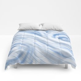 Blue Stripe on Blue Swirl Comforters
