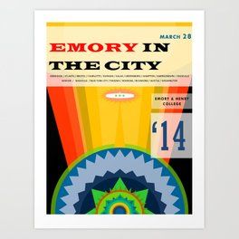Emory in the City 2014 Art Print
