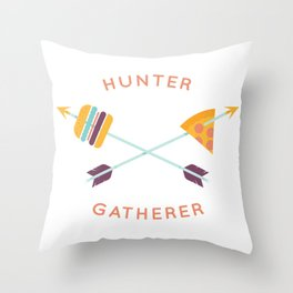 Hunter Gatherer Throw Pillow
