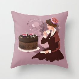 Coffee Fig Cake  Throw Pillow