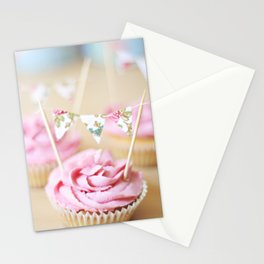 bunting cupcakes Stationery Cards
