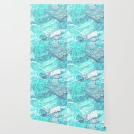 Marble Turquoise Blue Agate Wallpaper