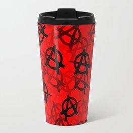 Anarchy (black on red) Travel Mug
