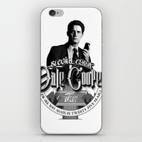 dale cooper iPhone & iPod Skins featuring Dale Cooper - Twin Peaks by KevinART