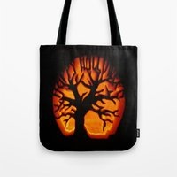 halloween Tote Bags featuring HalloWeen by 2sweet4words Designs