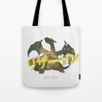 charizard Tote Bags featuring Charizard by Thomas Official