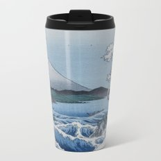 Sea Off Satta - Japanese Woodblock Print by Hiroshige Metal Travel Mug