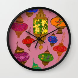 Istanbul lamps Wall Clock