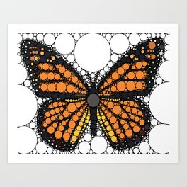 """Monarch Butterfly - from """"Further Back"""" series Art Print"""
