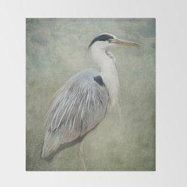 Cool Heron Throw Blanket