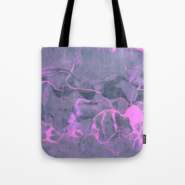 Grey and Pink Marble Tote Bag