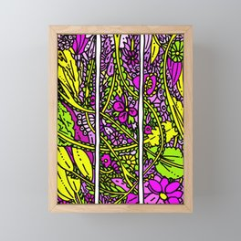 Fab Flowers 21 Color Framed Mini Art Print