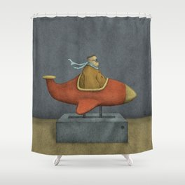 Road to Nowhere - Panel 3 Shower Curtain