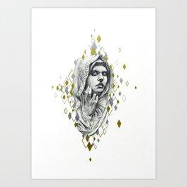 Glanced At Art Print