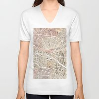 berlin V-neck T-shirts featuring Berlin by Mapsland