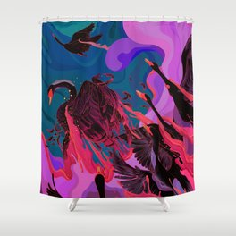 Fiery Rebirth Shower Curtain