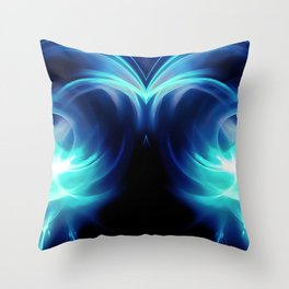 abstract fractals mirrored reacc82 Throw Pillow