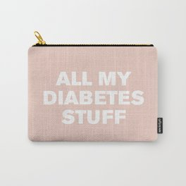 All My Diabetes Stuff (Pale Dogwood) Carry-All Pouch