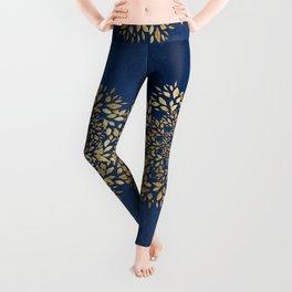 Gold Leaves Mandala Leggings