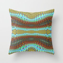 Earth Layers zigzag Abstract 1 Throw Pillow