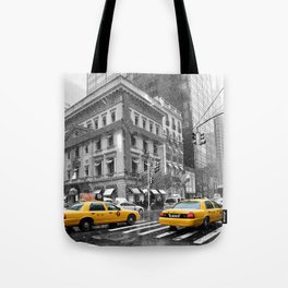 New York City 5th Avenue Yellow Cabs Tote Bag