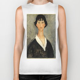 "Amedeo Modigliani ""Young Woman with Black Hair"" Biker Tank"