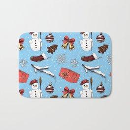 Christmas seamless pattern Bath Mat
