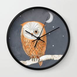 Winking Owl by the Light of the Moon Wall Clock