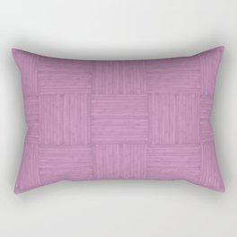 Violet Purple Faux Bois Wood Pattern Rectangular Pillow
