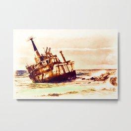 shipwreck aqrels Metal Print