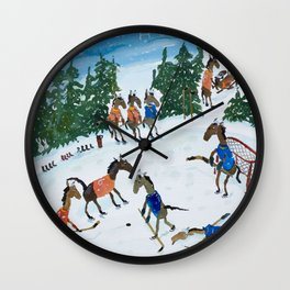 Horse Hockey! Wall Clock