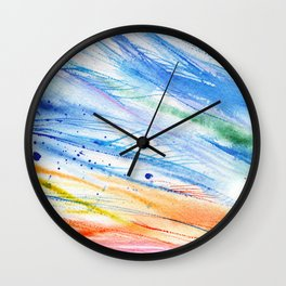 abstract beach watercolor painting Wall Clock