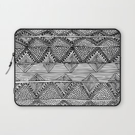 Abstract black and white digitised hand drawing art Laptop Sleeve