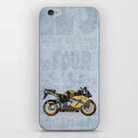 honda iPhone & iPod Skins featuring Honda CBR1000 & Old Newspapers by Larsson Stevensem