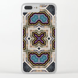 Victorian Art Deco Medieval Pattern SB 37 Clear iPhone Case