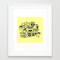 muppet Framed Art Prints featuring Muppet line by BlackBlizzard