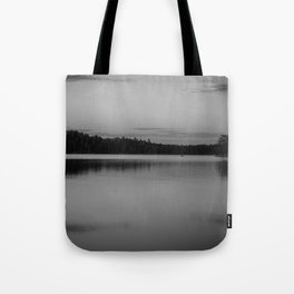Black and White Sunset on Little Loon Tote Bag