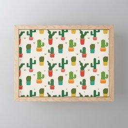 Pointed cactus Framed Mini Art Print