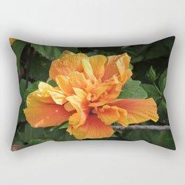 The Golden Double Hibiscus Next Door Rectangular Pillow