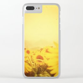 Delving in Yellow Clear iPhone Case