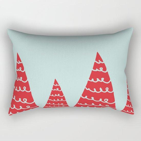 Funky christmas tree Rectangular Pillow