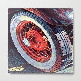 Sexy Model T Wheel Metal Print