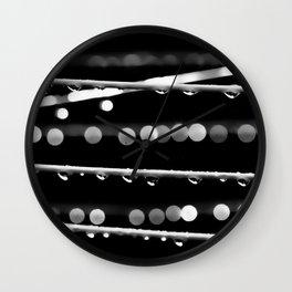 Raindrops Wall Clock