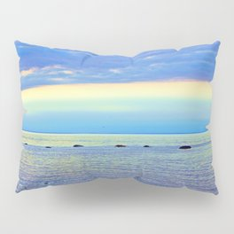 Saturated Sunset over the Circle of Rocks Pillow Sham