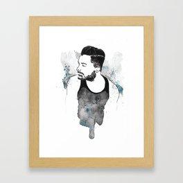 bearded guy Framed Art Print