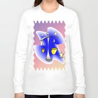 astrology Long Sleeve T-shirts featuring Astrology, Aquarius by Karl-Heinz Lüpke