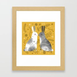 NOSE TO NOSE Framed Art Print
