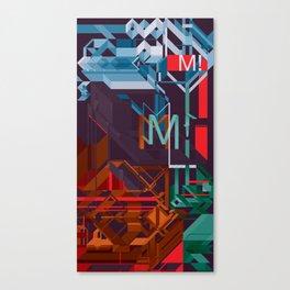 M! Canvas Print