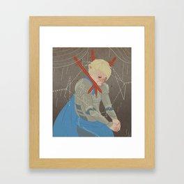 Three of Swords Framed Art Print