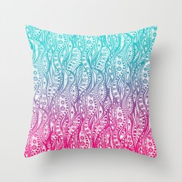 Distorted Dream Print (Color) Throw Pillow